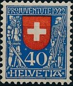 Switzerland 1922 PRO JUVENTUTE - Coat of Arms d