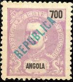 Angola 1914 D. Carlos I Overprinted j