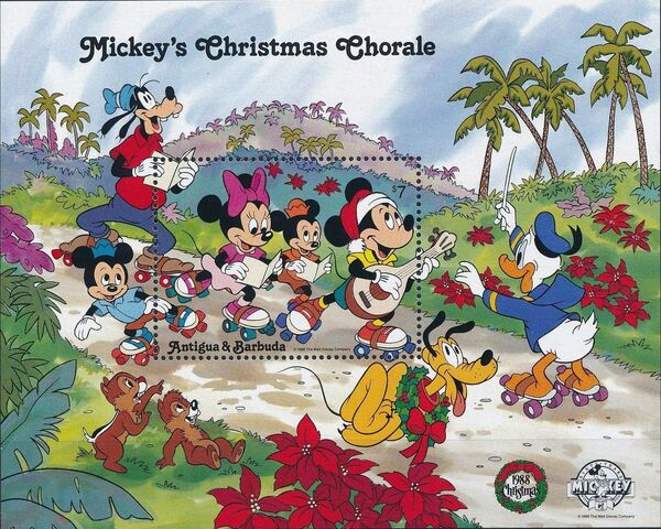 Antigua and Barbuda 1988 Disney - Mickey's Christmas Chorale m