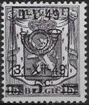 Belgium 1949 Coat of Arms, Precanceled and Surcharged a