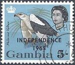 Gambia 1965 Birds Overprinted k