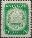 Latvia 1940 Arms of Soviet Latvia m