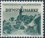 Liechtenstein 1947 Stamps of 1944-1945 overprinted - Official Stamps a