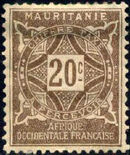 Mauritania 1914 Postage Due Stamps d