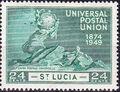 St Lucia 1949 75th Anniversary of Universal Postal Union UPU d.jpg