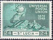 St Lucia 1949 75th Anniversary of Universal Postal Union UPU d