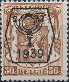 Belgium 1939 Coat of Arms - Precancel (1st Group) d