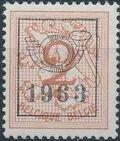 Belgium 1963 Heraldic Lion with Precancellations a