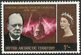 British Antarctic Territory 1966 Churchill Memorial c