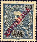 Cape Verde 1911 D. Carlos I Overprinted m