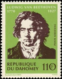 Dahomey 1970 200th Anniversary of the Birth of Ludwig van Beethoven b