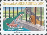 Grenada Grenadines 1988 The Disney Animal Stories in Postage Stamps 5e