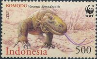 Indonesia 2000 WWF Komodo Dragon a