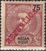 Mozambique 1911 D. Carlos I Overprinted h