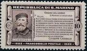 San Marino 1932 50th Anniversary of Giuseppe Garibaldi Death a