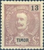 Timor 1903 D. Carlos I - New Values and Colors g