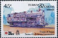Turks and Caicos Islands 1991 Expo PhilaNippon - Locomotives c