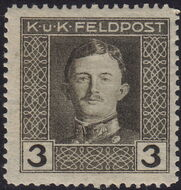 Austria 1917-1918 Emperor Karl I (Military Stamps) c