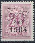 Belgium 1964 Heraldic Lion with Precancellations e