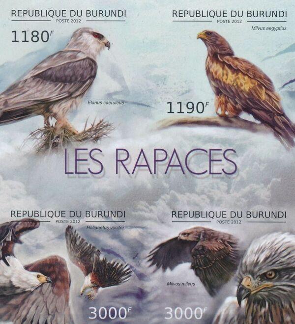 Burundi 2012 Birds of prey d