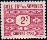 French Somali Coast 1947 Postage Due Stamps e