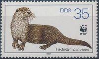 Germany DDR 1987 WWF - European Otter c