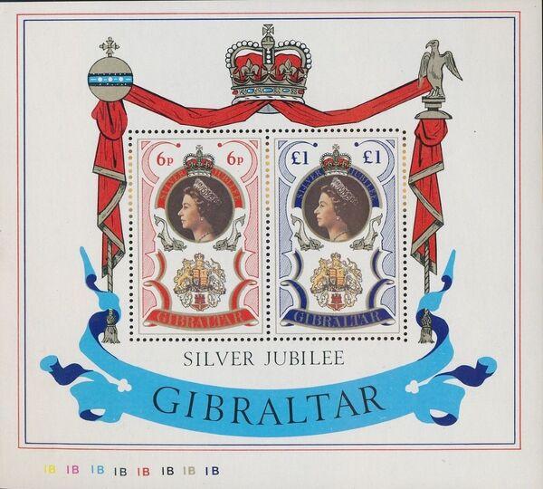 Gibraltar 1977 25th Anniversary of Queen Elizabeth Regency d