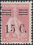 Portugal 1928 Ceres Surcharged k
