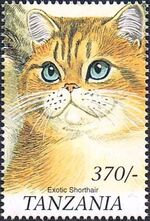 Tanzania 1999 Cats of the World e