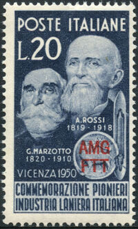 Trieste-Zone A 1950 G. Marzotto and A. Rossi Pioneers of the Italian Wool Industry a