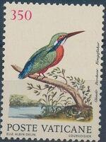 Vatican City 1989 Birds from Eleazar Albin Engravings d