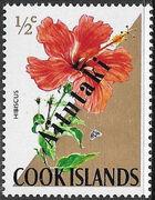 Aitutaki 1972 Flowers from Cook Islands Overprinted AITUTAKI a
