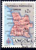 Angola 1955 Map of Angola b