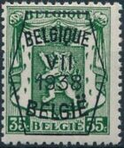 Belgium 1938 Coat of Arms - Precancel (7th Group) e