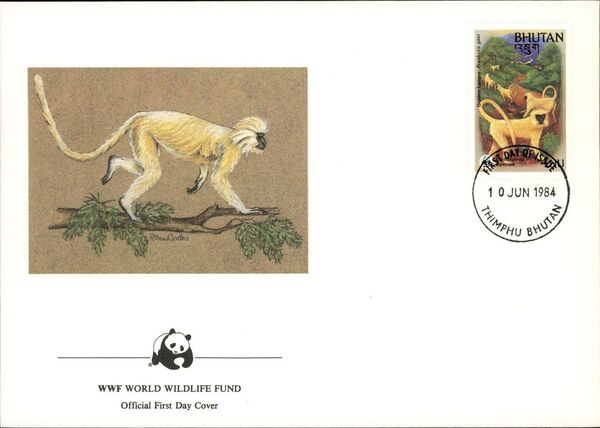 Bhutan 1984 WWF - Golden Langur n