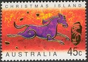 Christmas Island 2002 Year of the Horse a