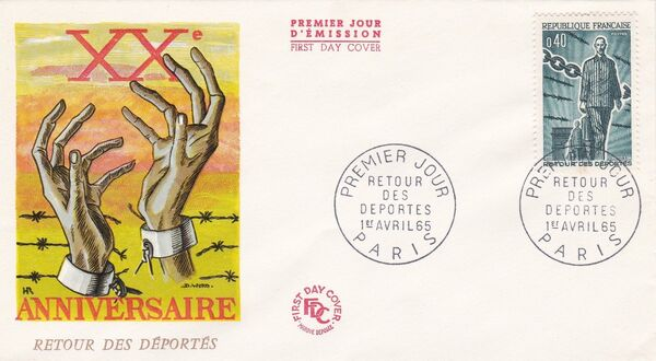 France 1965 20th Anniversary of the Return of Deportees FDCa