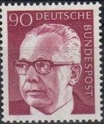 Germany, Federal Republic 1971 President Gustav Heinemann (3rd Group) b