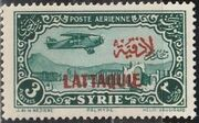 Latakia 1931 Air Post Stamps of Syria 1931 Overprinted d