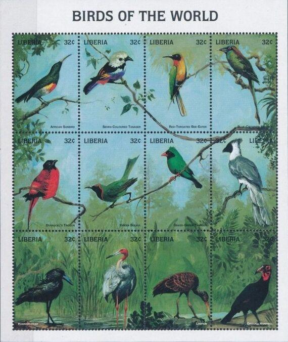 Liberia 1998 Birds of the World Sa