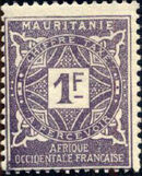 Mauritania 1914 Postage Due Stamps h