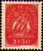 Portugal 1943 Portuguese Caravel (3rd Issue) a