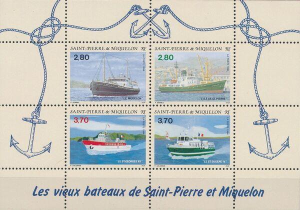 St Pierre et Miquelon 1994 Old ships of St Pierre et Miquelon a