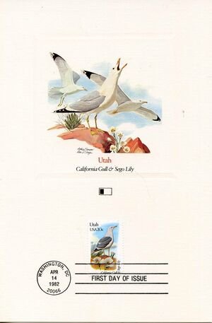 United States of America 1982 State birds and flowers FOLe8