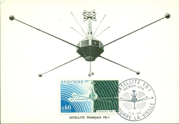 Andorra-French 1966 Launch of the French Satellite FR 1 MCa