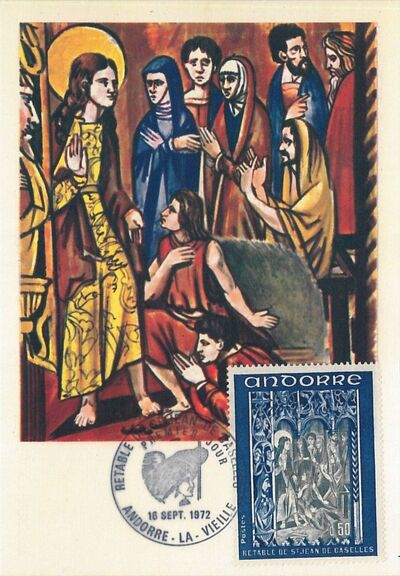 Andorra-French 1972 Altarpiece of Saint Jean de Caselles MCb
