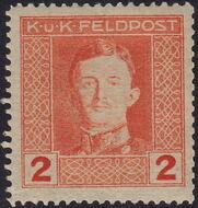 Austria 1917-1918 Emperor Karl I (Military Stamps) b