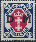 """Danzig 1921 Issues from 1921-1922 Overprinted """"D M"""" f"""