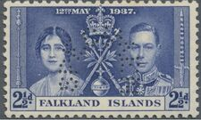 Falkland Islands 1937 George VI Coronation SPc