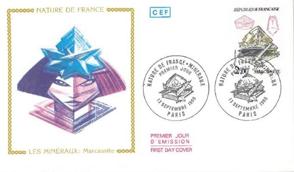 France 1986 Minerals FDCm